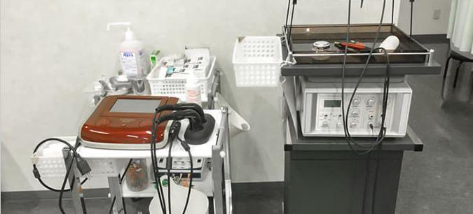 ポイント4 手技と最新式電気施術器により、短時間で改善